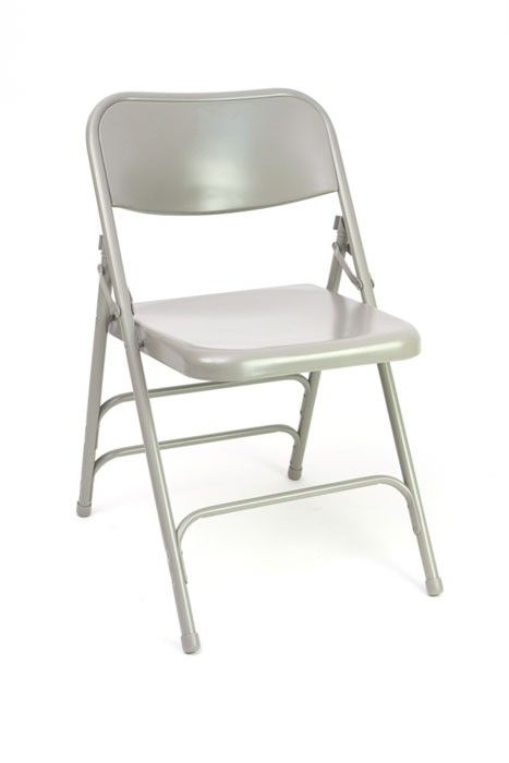 steel folding chairs grey