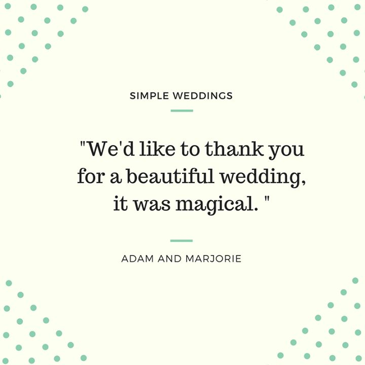 Congratulations Adam and Margaret Monterona! It was a pleasure to conduct your wedding for you. Love Australias easiest way to get married? And best price? Why not call us on 1300 668 459 or go: http://bit.ly/1RNpOLA