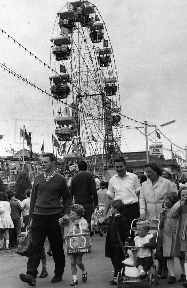 Victoria, Australia 1960s: 1967: Family day at the Royal Melbourne Show. Picture: Herald Sun Image Library