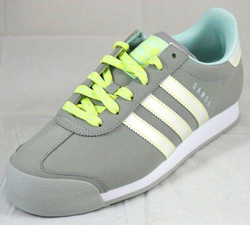 Adidas Samoa W Ligoni Gray/White/Electric Athletic Shoes Women's (7-11