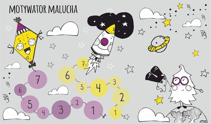 Magnetyczna mata na lodówkę - Motywator dla dzieci Familiowo  Magnetyczna mata na lodówkę - Motywator dla dzieci  Magnetyczna tablica, dzięki której pozytywnie zmotywujesz Twojego kilkulatka. Odpowiednie zachowanie (np. wykonanie któregoś z obowiązków przydzielonych na tablicy Zadań Naszej Rodziny) nagrodzone zostanie możliwością umieszczenia magnetycznego piktogramu na stacji wiodącej do latawca lub rakiety.