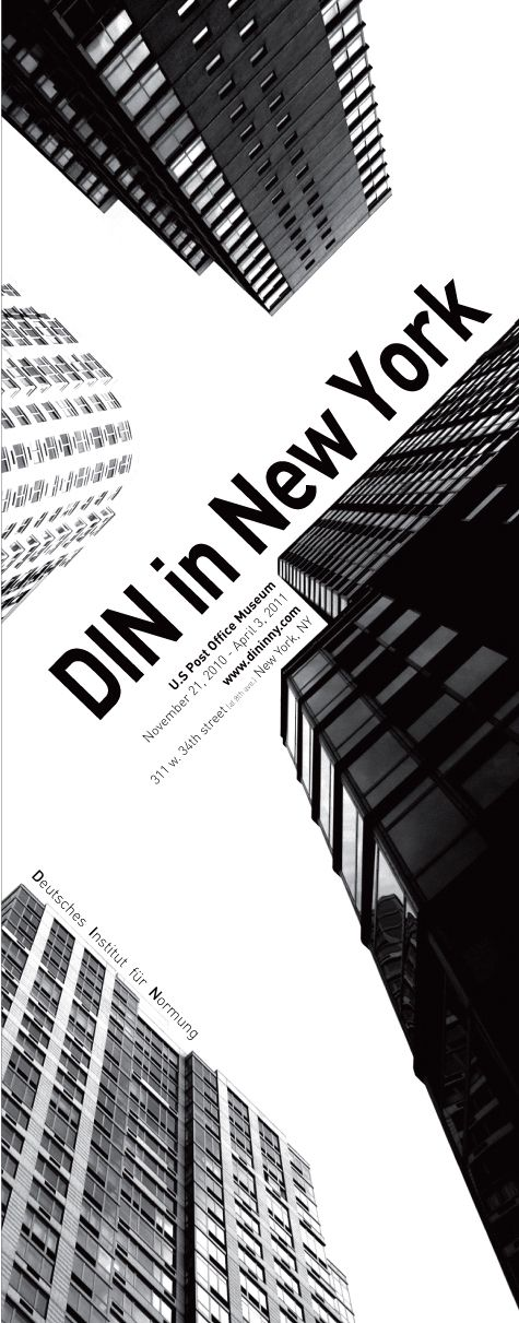 exhibition poster :: DIN in new york  --------------------------------------------  layout