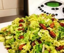 Recipe Crunchy Almond And Bacon Brussel Sprout Salad by ThermoFlavour - Recipe of category Side dishes