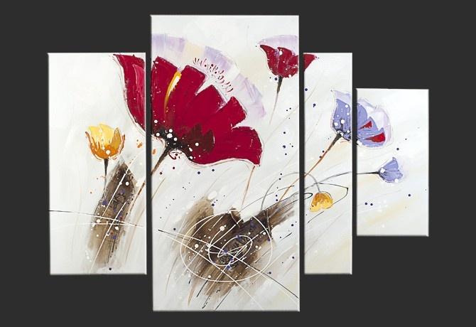 Quadro Moderno \'Campo Provenzale\' | Quadri di fiori dipinti a mano ...