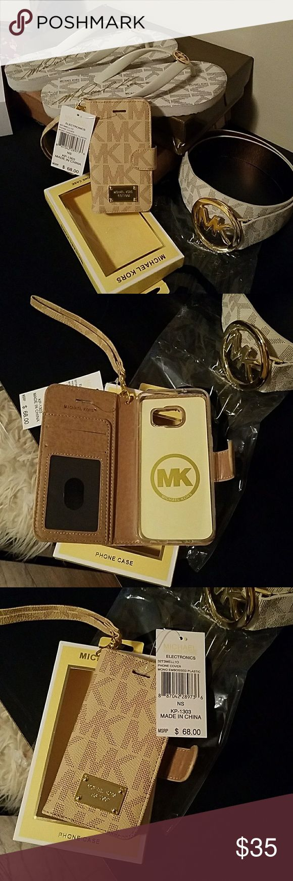 Brand new Michael Kors galaxy 7 phone case Brand new with tags never used. I just purchased this but isnt quite the color i was looking for. Maybe someone can get more use out of it then me 🛍☏📬 Michael Kors Accessories Phone Cases