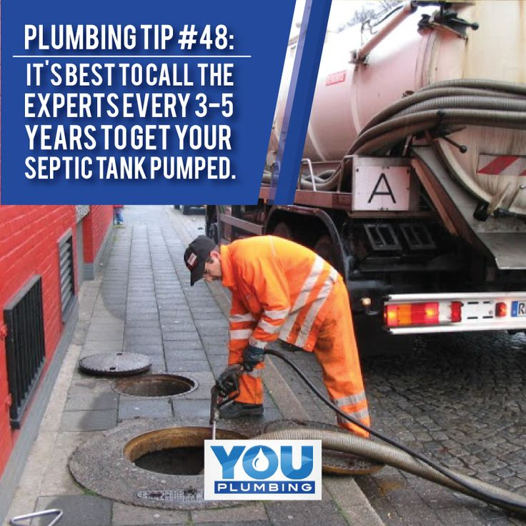 It's best to call the expertise every 3-5 years to get your septic tank pumped.#Plumbing #TipTuesdayplumbingtip#48