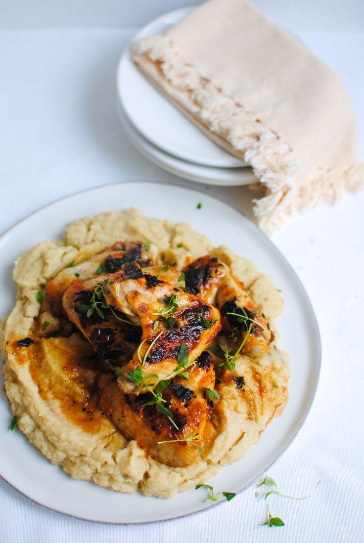 asinhas de frango com puré de aipo | chicken wings with celeriac puré