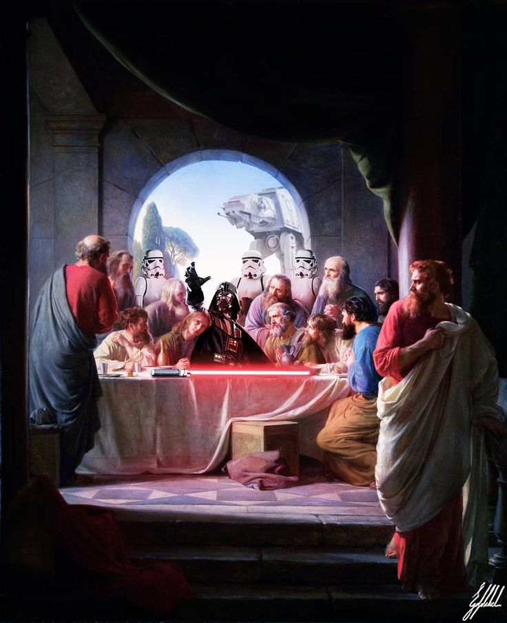 #lastsupper #painting #starwars #darthvader #stormtrooper #art #artwork #photomanipulation  #digitalart  What If Ottomans were from the Star Wars Universe?  The Last Supper, by Carl Heinrich Bloch.