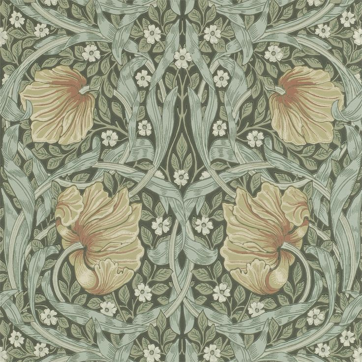 The Original Morris & Co - Arts and crafts, fabrics and wallpaper designs by William Morris & Company | Products | British/UK Fabrics and Wallpapers | Pimpernel (DM6P210388) | Archive Wallpapers