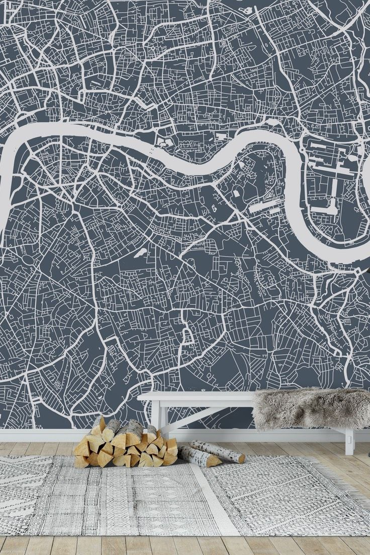 33 best map wall murals images on pinterest photo wallpaper london city map wall mural wallpaper