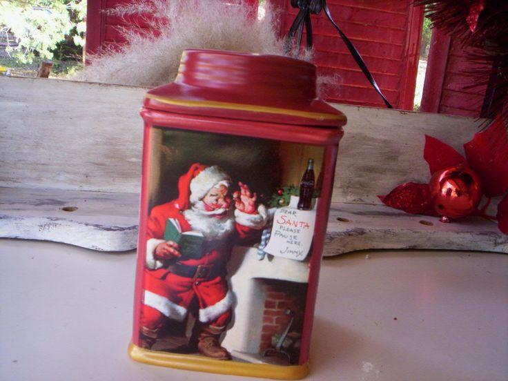 Père Noël cookie jar/Sakura en céramique/Coca-Cola-Coca-Cola