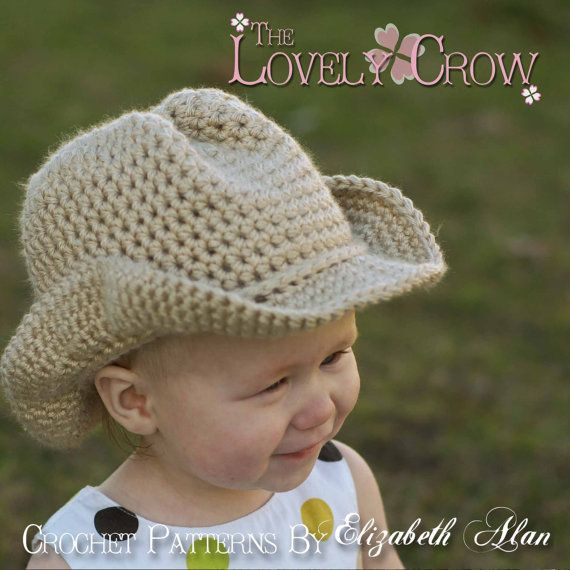Cowboy Hat Crochet Pattern Cowboy Hat for BOOT by TheLovelyCrow