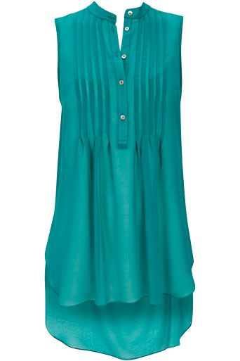 Love the color. Wallis Jade Rise And Fall Top.