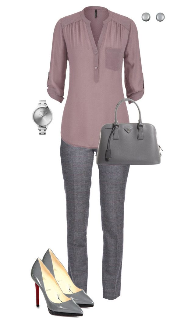 """The Perfect Blouse with maurices: Contest Entry"" by angela-vitello on Polyvore featuring Fabrizio Lenzi, maurices, Christian Louboutin, Prada, Georg Jensen and Kenneth Jay Lane"