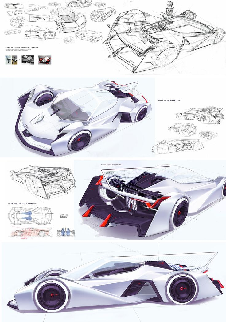 Daily Sketch: Audi LeMans Concept by Donghun Joung gallery:   Donghun's project: https://www.behance.net/gallery/47696059/AUDI-LEMANS-CONCEPT