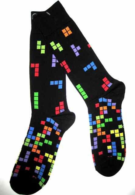 Crazy Socks for Men | Video Game Inspired Color Cube Socks - Men's