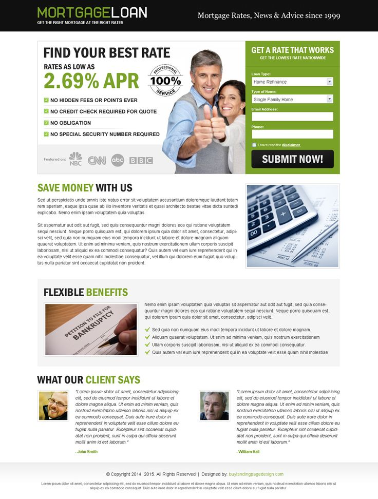 80 best mortgage landing page design images on Pinterest Landing - mortgage templates