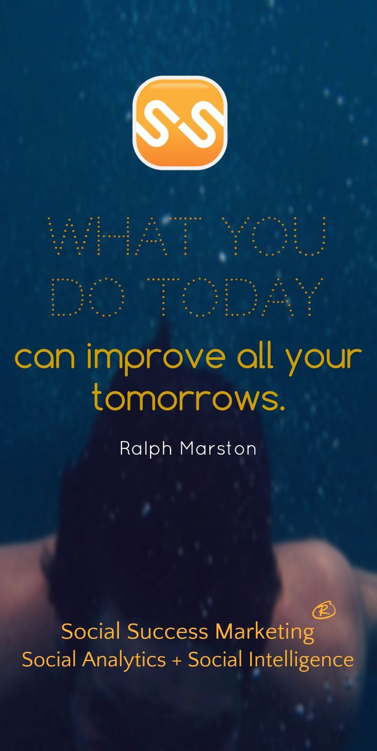 What you do today can improve your tomorrows. #SocialMediaCoach