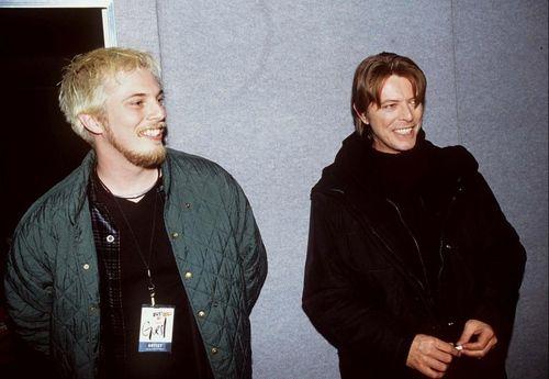 Duncan Jones with his dad...David Bowie    Brit Awards - 1999, with Duncan Jones