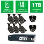 Q-SEE HeritageHD Series 16-Channel 720p 1TB Video Surveillance System with (6) 720p Bullet Cameras and (2) 720p Dome Cameras