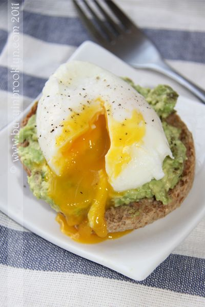 Poached eggs & avocado on English muffin | Edibles | Pinterest