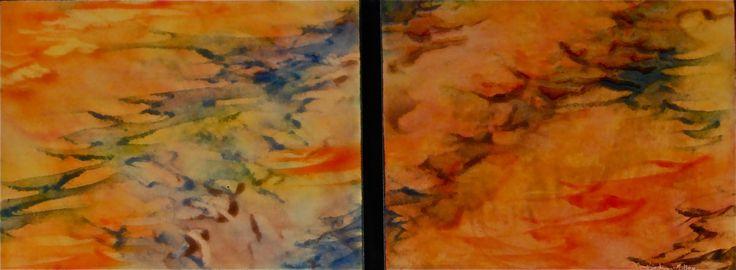 Gentle Breeze Duet by Cynthia Miller (Art Glass Wall Sculpture) | Artful Home