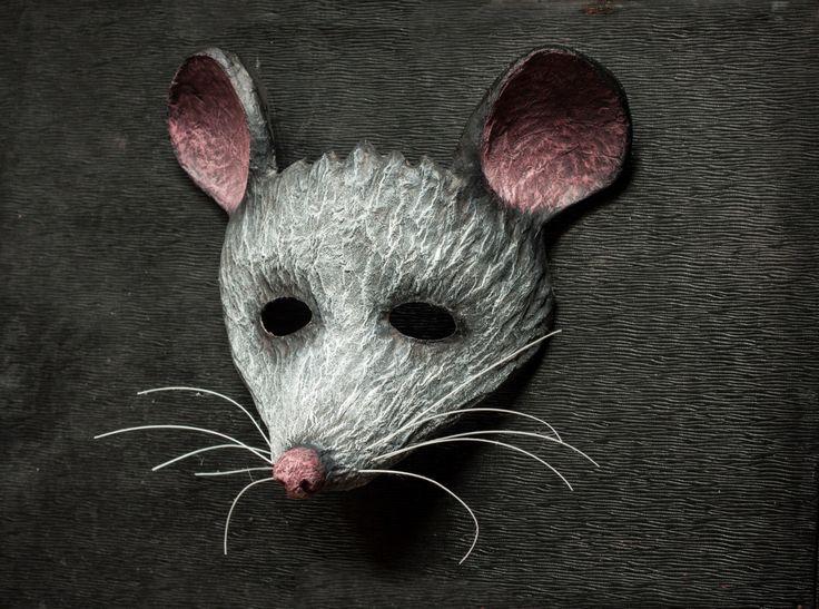 Grey Mouse Mask Animal Mask Festival Party Mask Fancy Dress Woodland Carnival Masquerade Paper Papier Mache by DaceBrakmane on Etsy https://www.etsy.com/uk/listing/240587344/grey-mouse-mask-animal-mask-festival