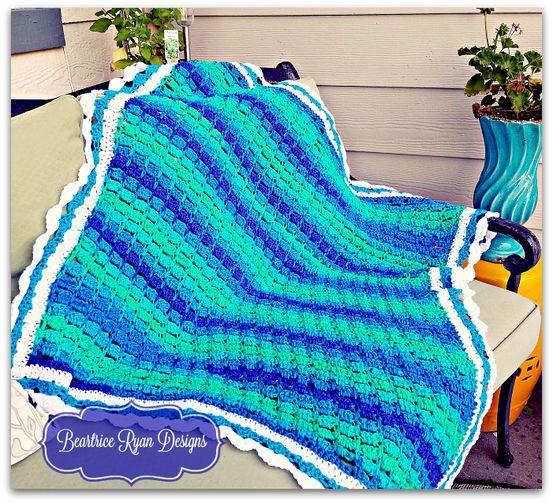 Mountain Streams Baby Blanket… New Free Crochet Pattern!!