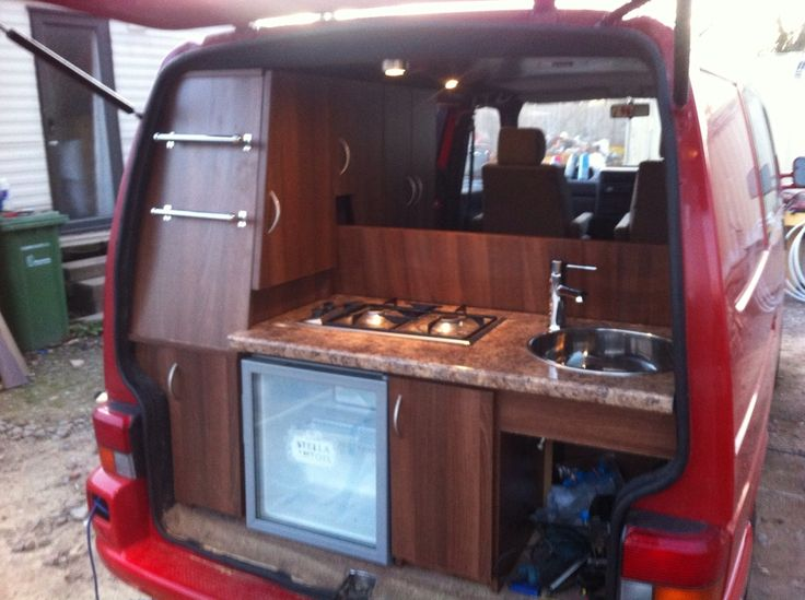Clever rear kitchen photos and build thread 0 van for Vw t4 interior designs