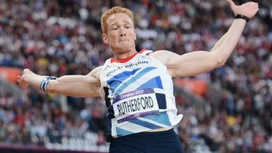 Greg Rutherford in the long jump