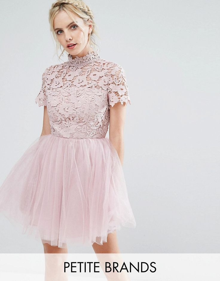 Get this Chi Chi Petite's short skirt now! Click for more details. Worldwide shipping. Chi Chi London Petite Lace Top Full Prom Mini Dress With Tulle Skirt - Pink: Petite dress by Chi Chi London Petite, Floral lace top, High neck, High-rise waist, Layered tulle skirt, Open back, Button keyhole fastening, Regular fit - true to size, Hand wash, 100% Polyester, Our model wears a UK 8/EU 36/US 4 and is 163cm/5'4 tall. Chi Chi London are your go-to girls when it comes to dressing up. Whether…