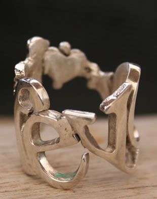 Name Ring Sterling Silver