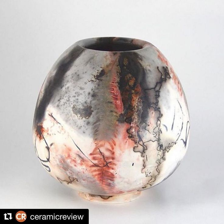 #Repost @ceramic-review  Every week CR showcases a single photograph by an emerging ceramist on Instagram. This week is the turn of @diluca_londonceramics and this #saggar fired #raku vessel. We like how you can see the traces of the organic materials used for mark-making  we spot a fern frond... what do you see? Emerging makers: share your recent work with CR's editorial team anytime using #CREmerging  we may well showcase it here. #ceramicreview is the international #magazine for #ceramics…