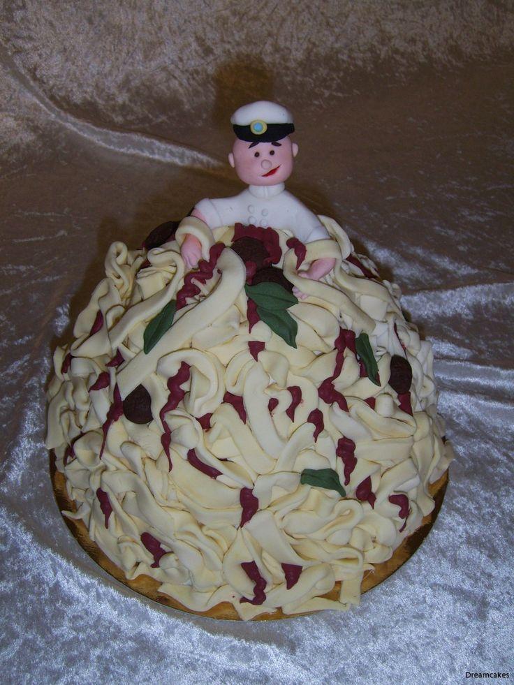 En av de roligaste tårtorna jag gjort! Definitivt annorlunda.