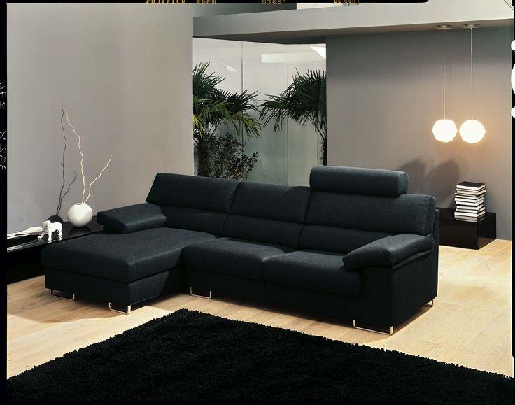 Il divano Project comfort by Samoa.  #black #nero #divani #furniture #pelle #leather #arredamento #design #love #home