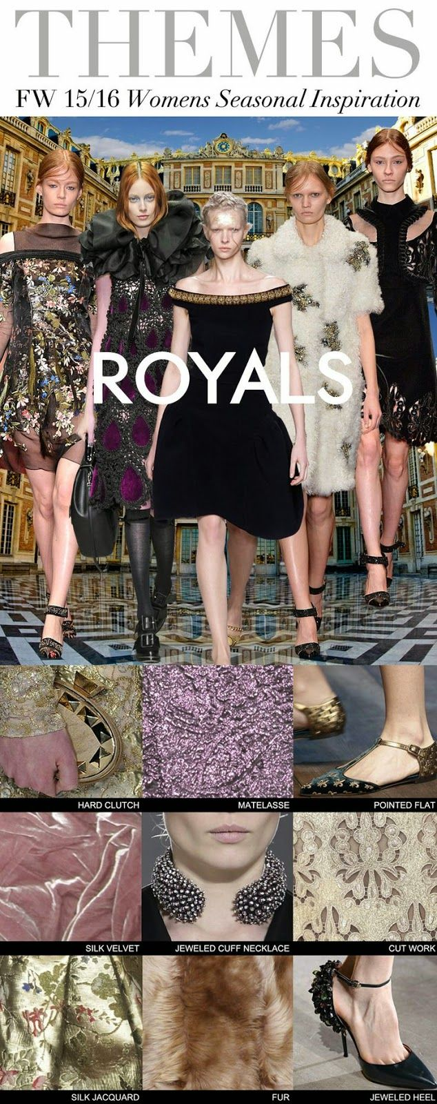 TRENDS // TREND COUNCIL - WOMENS F/W 2015-16 ROYALS - FASHION VIGNETTE