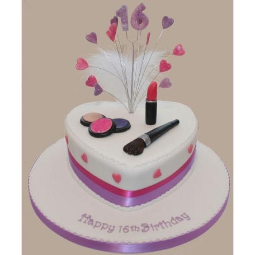 Makeup Birthday Cake for my daughter Pinterest ...