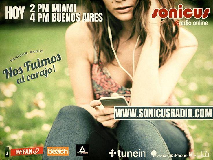 Ya llegamos!! una tarde increíble para vivir la radio!! www.sonicusradio.com #radio #online #music #musica #pop #hits #top  #followme #miami #latinos #hot #party #trendy #artistas #ranking #chart #show  #fashiongram #musicislife #ilovemusic #losangeles #newyork #celebrity  #dominicana #argentina  #tunein