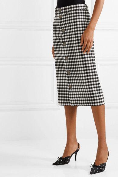 09db67fa Balenciaga | Gingham woven midi skirt | NET-A-PORTER.COM | skirt in ...