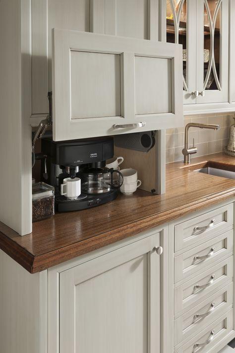 Excelente gabinete para esconder la cafereta u otros electrodomésticos. #cocinasmado #fabricandosinlímites
