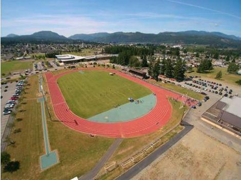 Bob Dailey Stadium. Port Alberni BC, Vancouver Island Canada