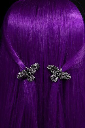 Black Diamond Ravens Gothic Hairclips by Restyle