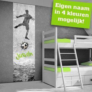 Zelfklevend muurdecoratie sticker paneel: Voetbal