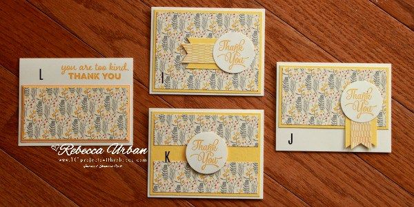 Stampin Up Painted Autumn. Stampin Up One Big Meaning. Stampin Up OSW. One Sheet Wonder template. OSW Template. Stampin Up cards. Thank you cards. Stampin Up Thank you.