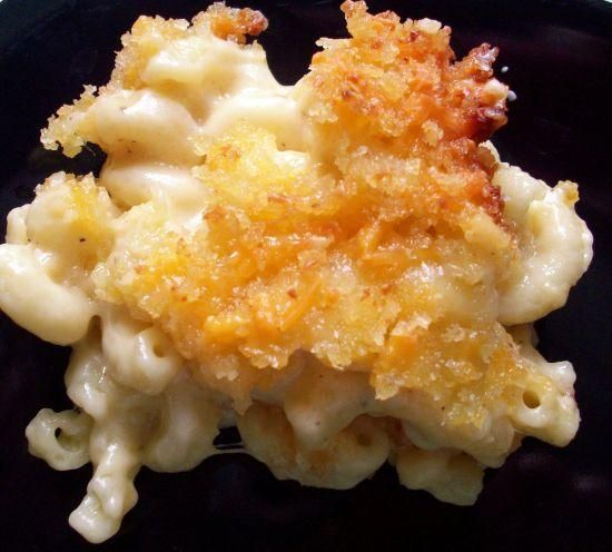 Baked Macaroni With Three Cheeses.  I'm going to try this for Thanksgiving dinner!