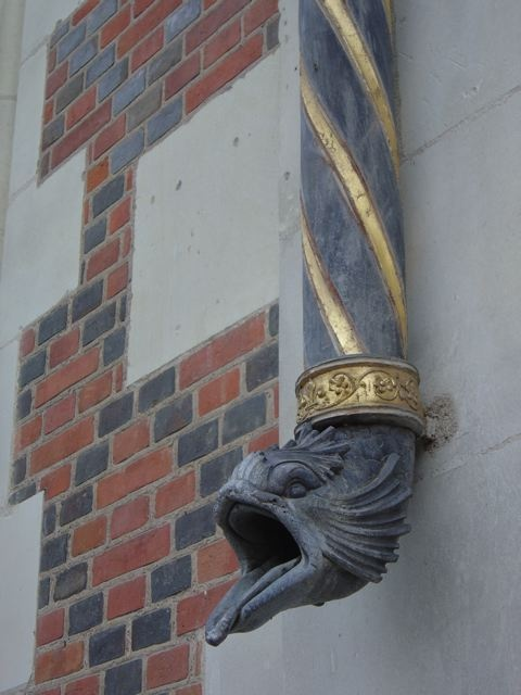 Gutter spout at Blois castle, France.