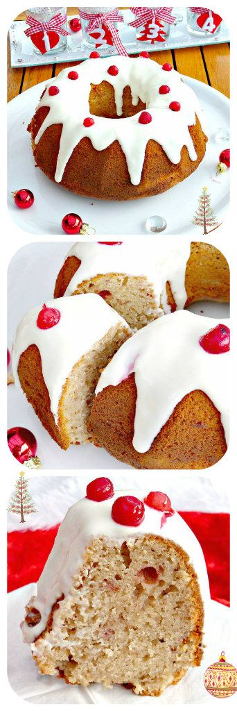 Ginger cake doesn't come any better than this! This Swedish mjukpepparkaka (soft ginger cake) is filled with lingonberries and topped with sour cream frosting and a sprinkling of cranberries. Merry Christmas!