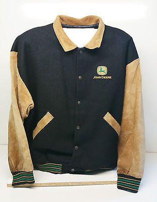 John Deere (Identity Plus) 80/20 Wool / Pig Suede Jacket Size XL Australian Made
