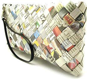 Bolsas feitas com jornal reciclável                              …                                                                                                                                                                                 Mais