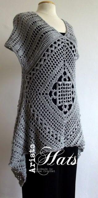 José Crochet: My first tunic - M'n eerste tuniek  ---- gehäkelte Tunika + Grafik --> toll!
